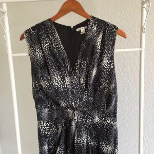 Kenneth cole Black white printed silk dress